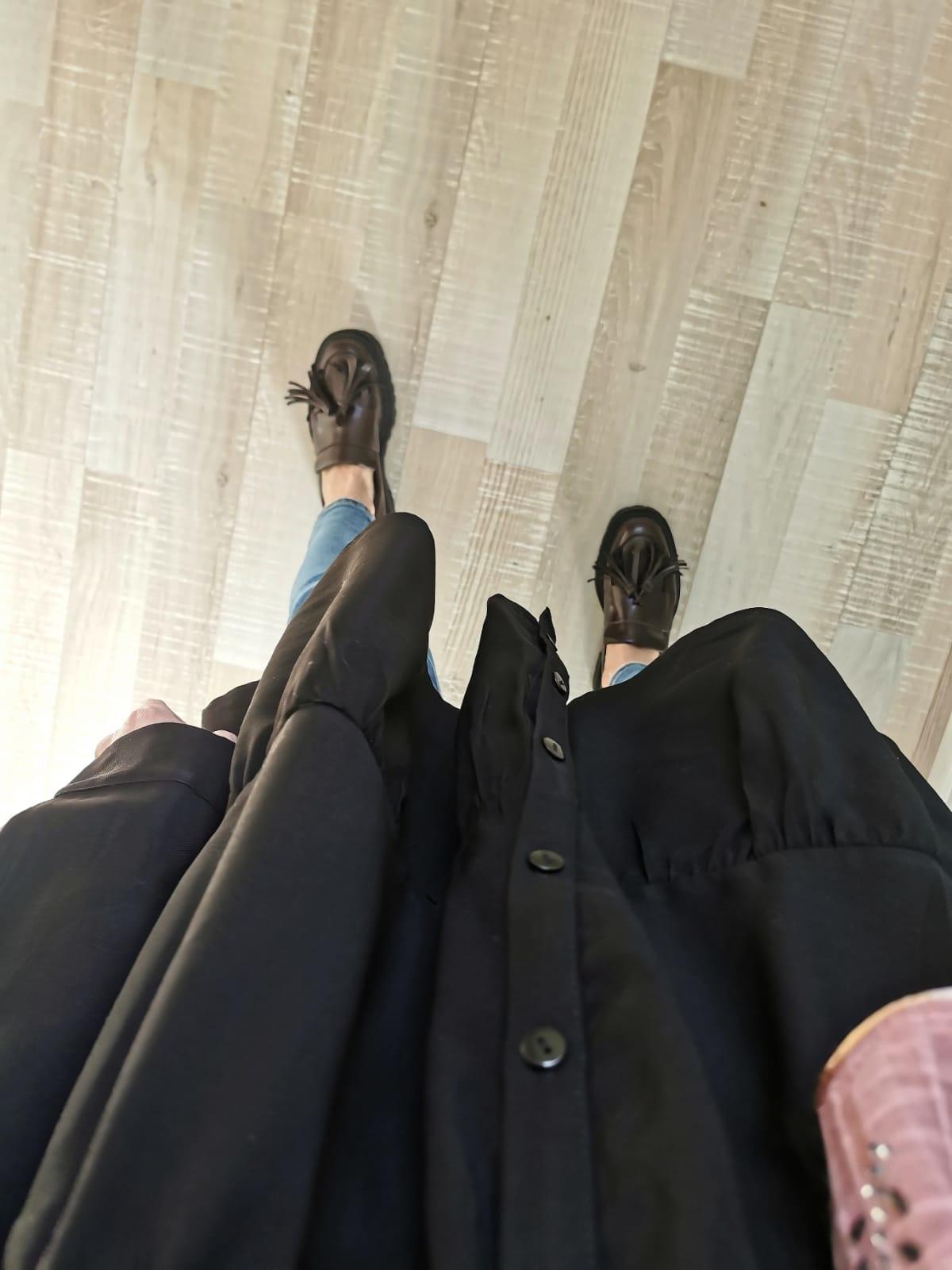 Tuniek denim stof zwart (oversized)