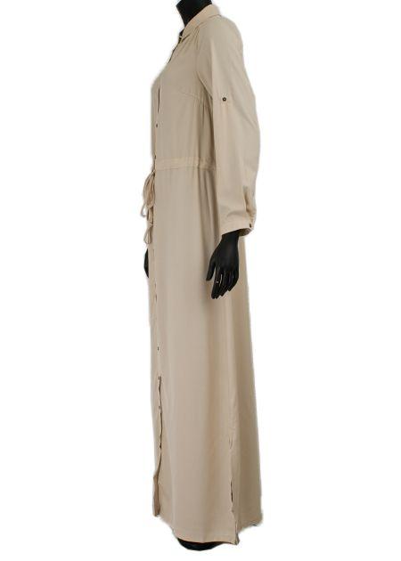 Maxi jurk pebble beige