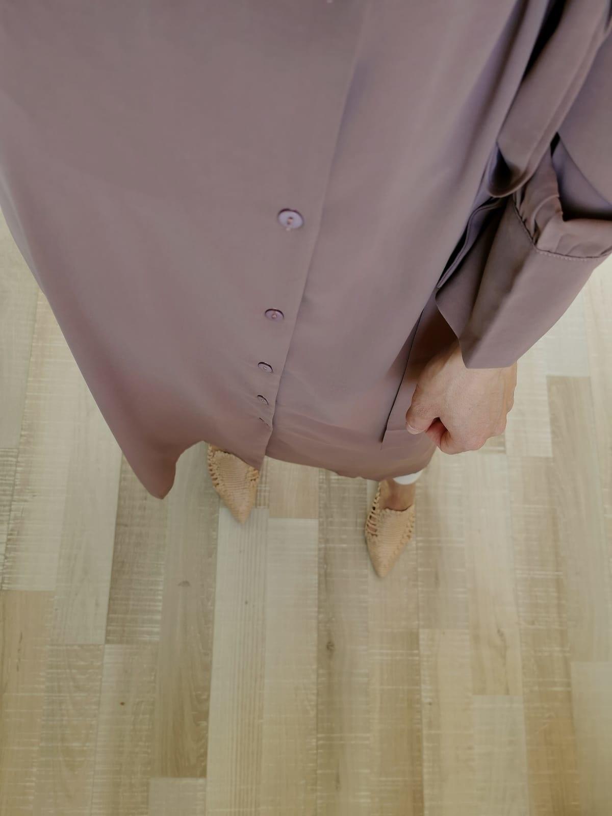 Luchtige jurkje ponza paars