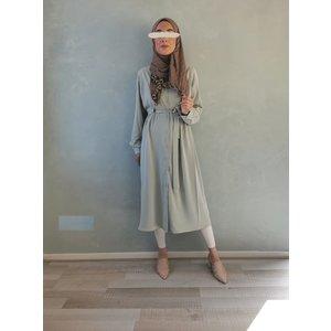 Luchtige jurkje ponza mintgroen