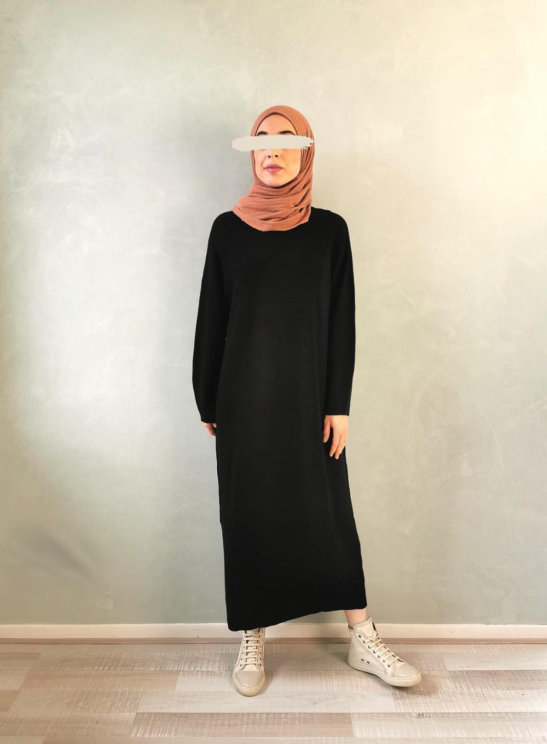 maxi trui lang- zwart - Copy