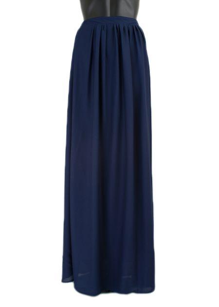 Lange maxi rok monica blauw