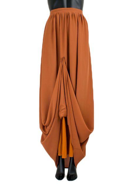 Lange maxi rok monica camel