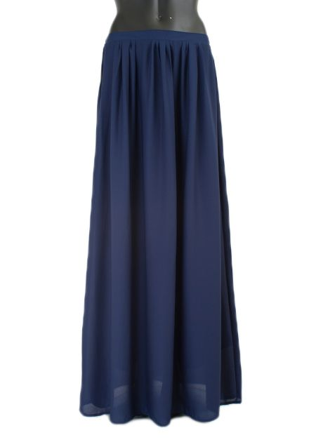 Maxi rok monica blauw