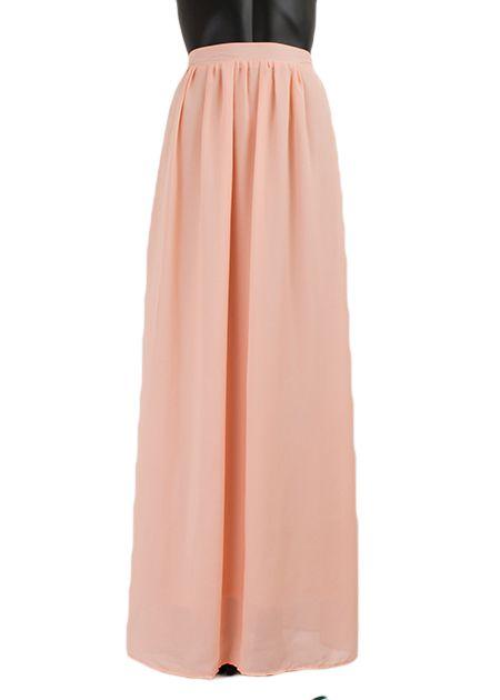 Verwonderlijk maxi rok monica lang 041 roze - le boutique GY-51