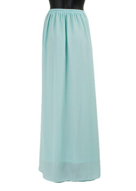Lange maxi rok monica lichtblauw