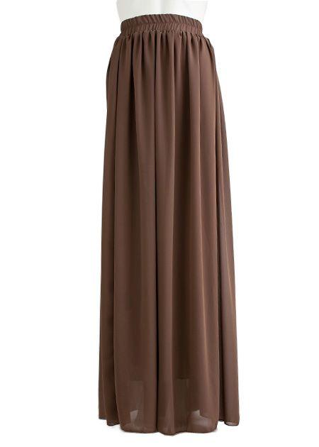 Lange maxi rok bruin