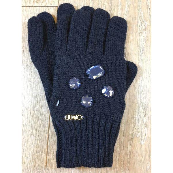 Liu Jo junior G68125MA88F guanti maglia rhinestone