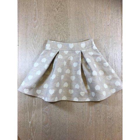 Cleome-F189 jupe courte a plis creux jcqd coeur