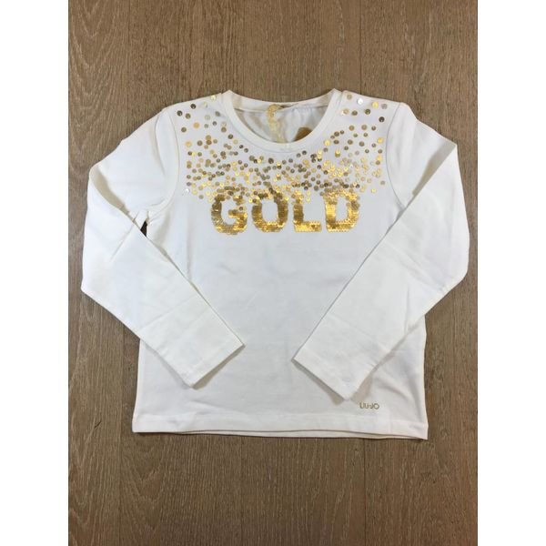 Liu Jo junior G68010J0088 t-shirt m/l gold