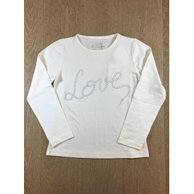 Pauline B Geranium-M048 tshirt m/l + love perles