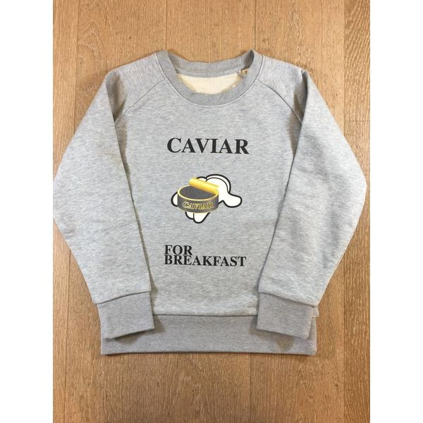 trendy & rare T&R Sweater Caviar for breakfast