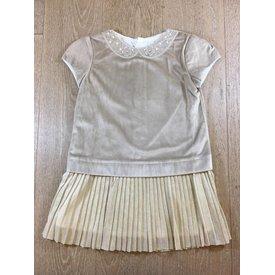 Mayoral 4940 velvet combined dress