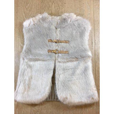 4330 knit vest with fur