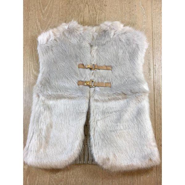 Mayoral 4330 knit vest with fur