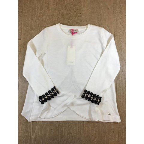 1A115U-Y4TZ hazzard blusa jersey/crepe