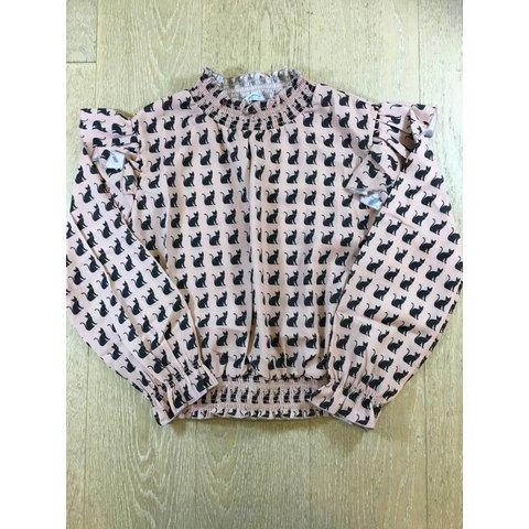 7114 gauze blouse