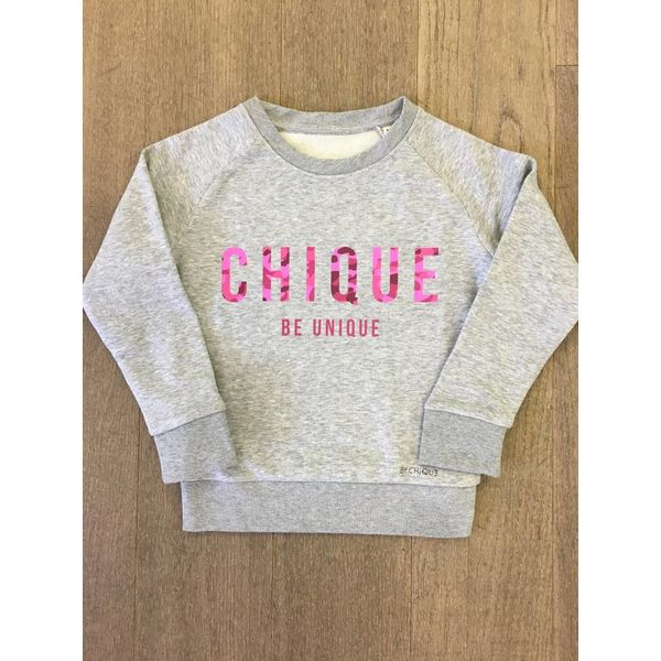 By Chique Sweater Camouflage pink