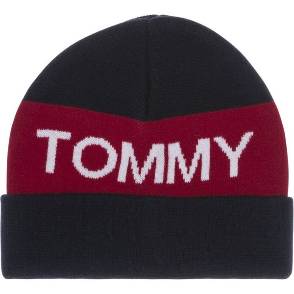Tommy Hilfiger AU00322 tommy colorblock beanie