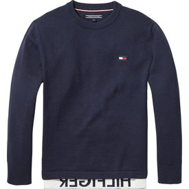 Tommy hilfiger pre KB04040 relaxed hilfiger crew neck sweater