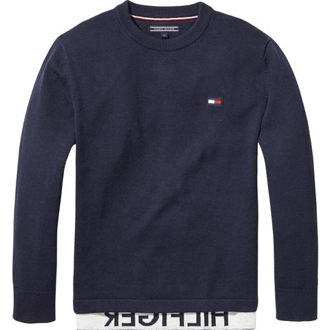 KB04040 relaxed hilfiger crew neck sweater