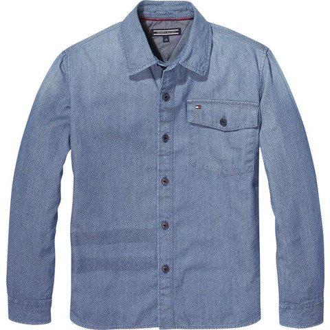 KB04046 mini denim print shirt l/s