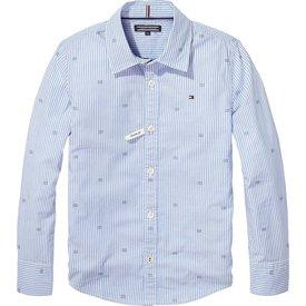 Tommy hilfiger pre KB04051 essential oxford stripe print shirt