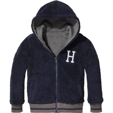 KB04225 reversible borg hooded jacket