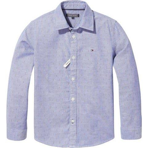 KB04292 essential printed oxford shirt l/s