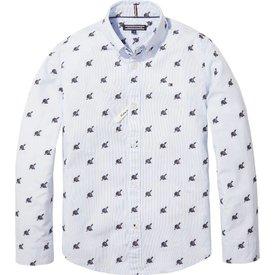 Tommy Hilfiger KB04293 baseball hat dobby shirt l/s