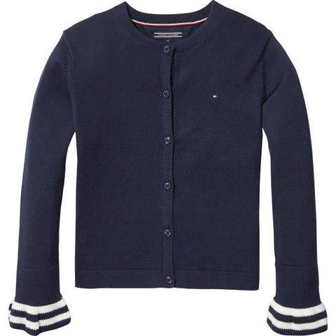 KG03723 ruffle cardigan