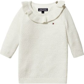 Tommy hilfiger newborn KN00882 baby lurex sweater dress l/s