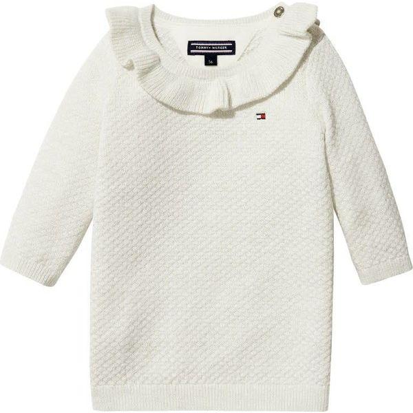 Tommy hilfiger newborn KN00882 baby lurex sweater dress l/s