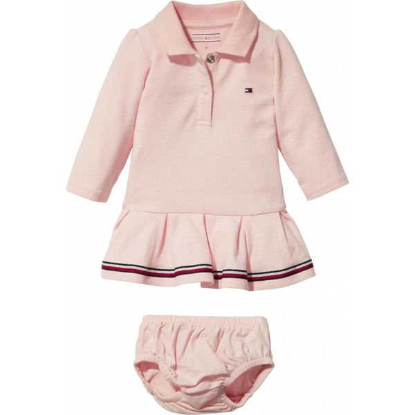 Tommy hilfiger newborn KN00883 baby polo dress l/s