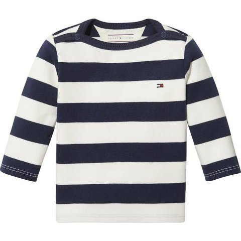 KN00888 baby rugby stripe tee