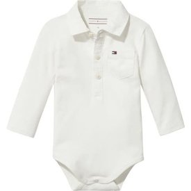 Tommy hilfiger newborn KN00905 baby boy poplin collar body