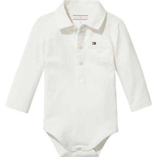 Tommy hilfiger newborn KN00905 baby boy poplin collar body