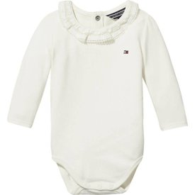 Tommy hilfiger newborn KN00907 baby girl lacey collar body l/s