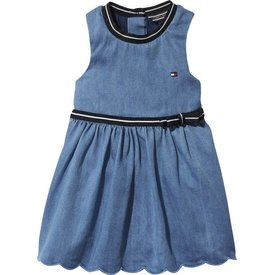 Tommy hilfiger newborn KN00922 baby denim dress sleeveless