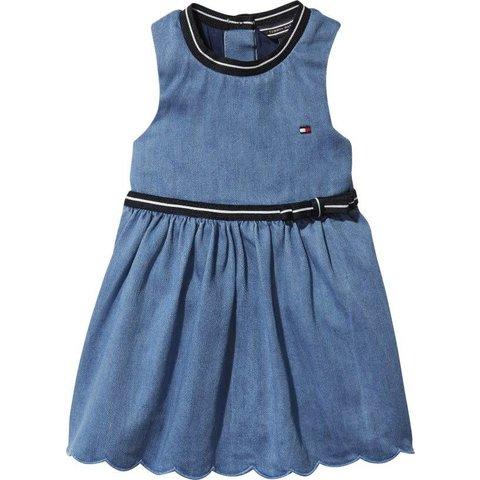 KN00922 baby denim dress sleeveless