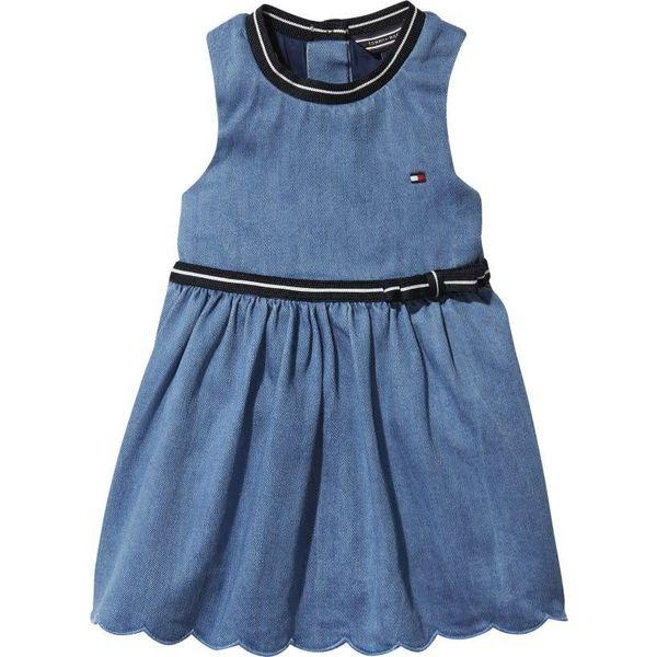 Tommy hilfiger newborn KN00922 baby denim dress sleeveless