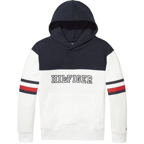 KS00014 unisex varsity block hoodie