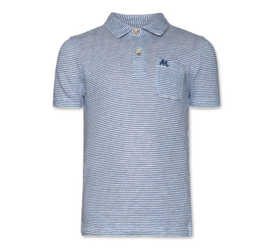 119-2131T-shirt polo striped