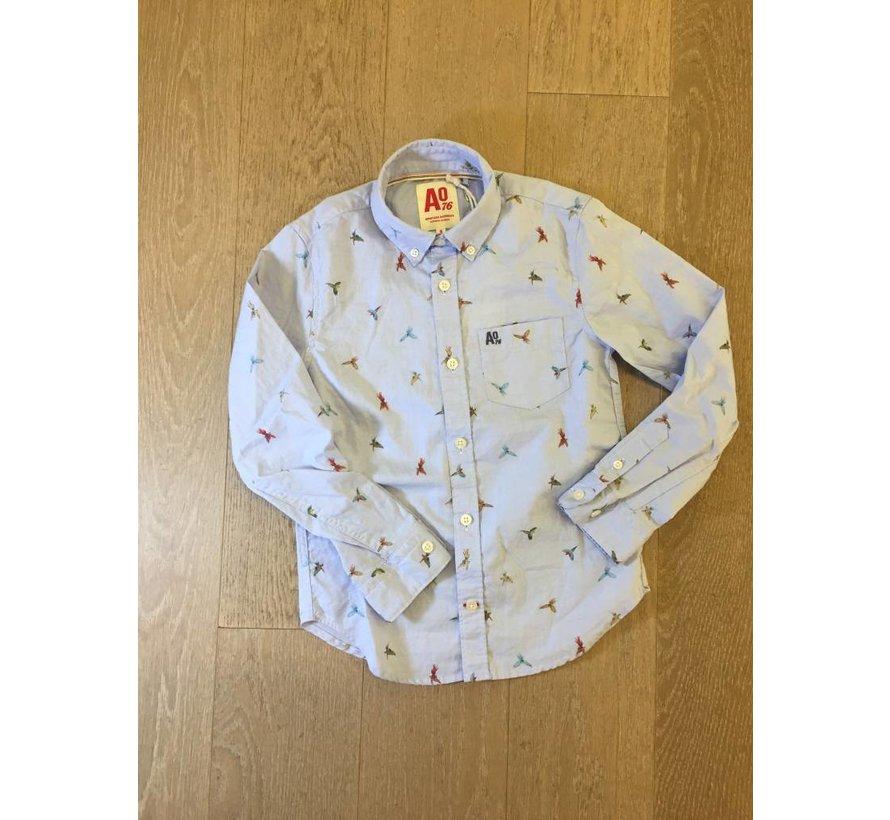 119-2400-05Button down parrot shirt