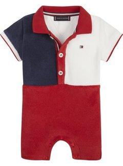 Tommy hilfiger pre KN00937Baby Boy Flag Polo Shortall