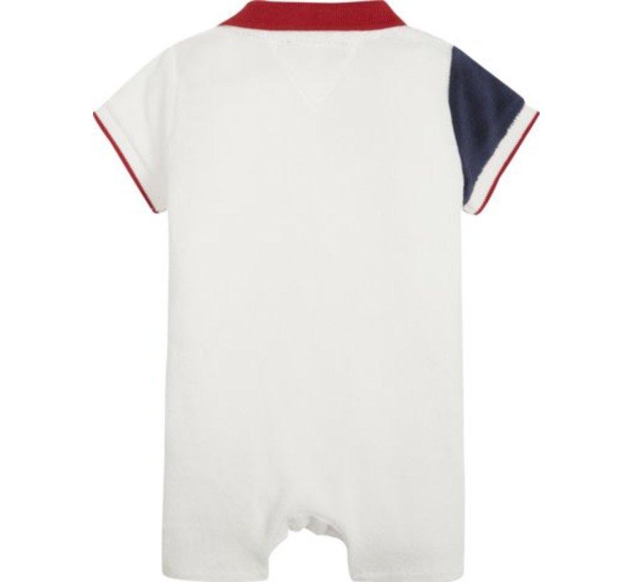 KN00937Baby Boy Flag Polo Shortall