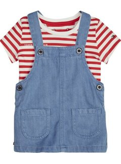 Tommy hilfiger pre KN00947Baby Dungaree Dress Set