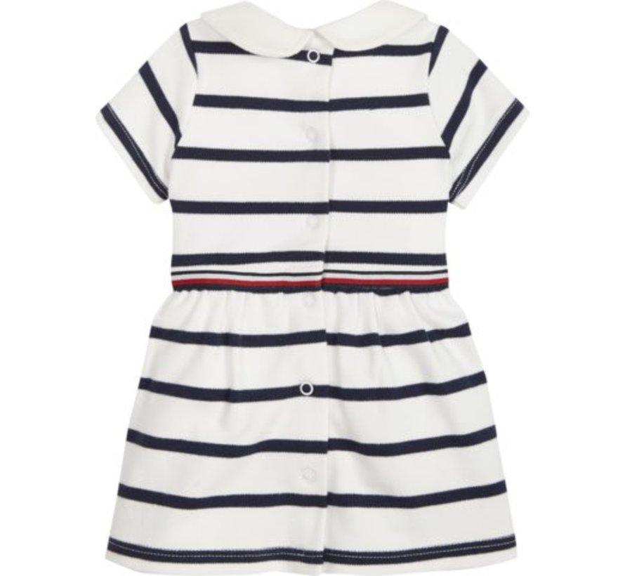 KN00959Baby Rugby Stripe Dress