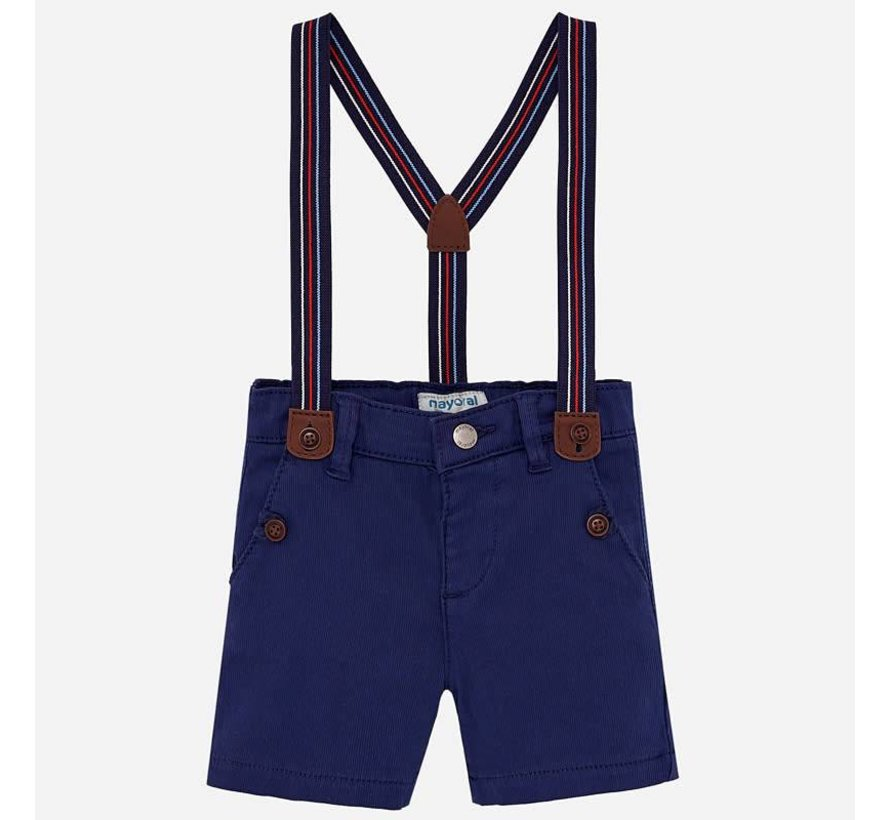 1244Chino shorts with suspenders