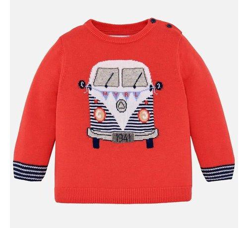 Mayoral 1312Van intarsia sweater